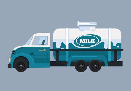 1,030 Milk Truck Cliparts, Stock Vector And Royalty Free.