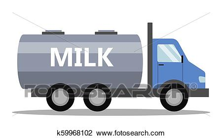 Milk truck illustration Clipart.