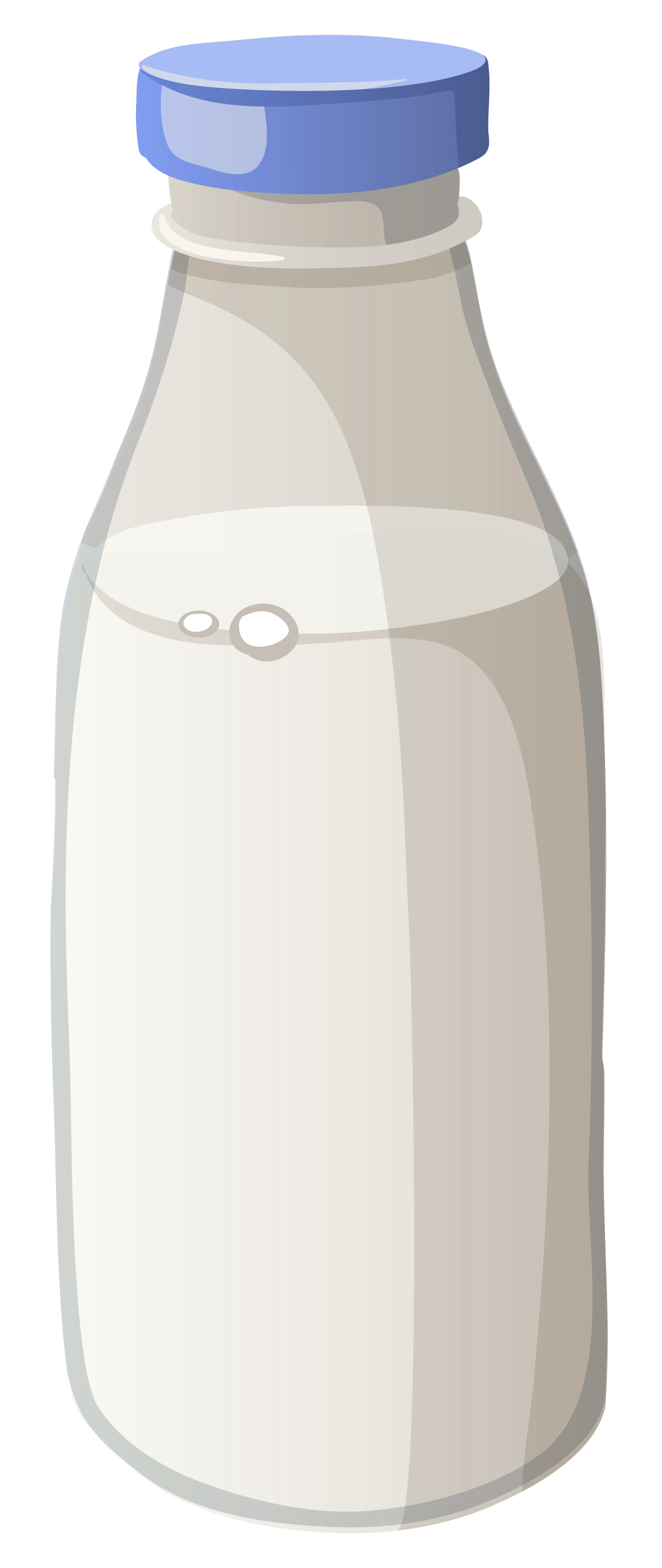 Bottle of Milk PNG Vector Clipart Image.