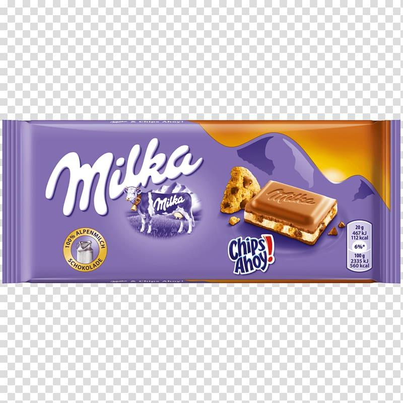 Chocolate bar White chocolate Milka Cream, milk transparent.