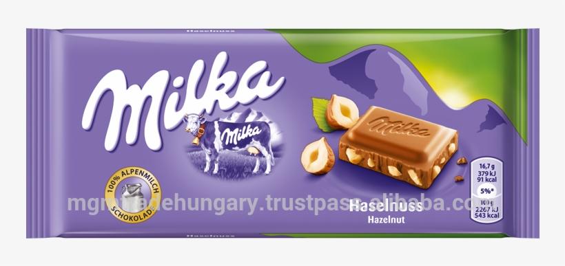 Milka 100g Hazelnut.