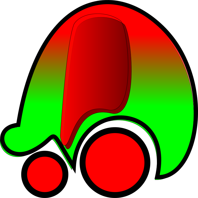 Free Clipart: Red Car Icon.