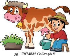 Milking Cow Clip Art.