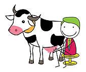Milking Clip Art.