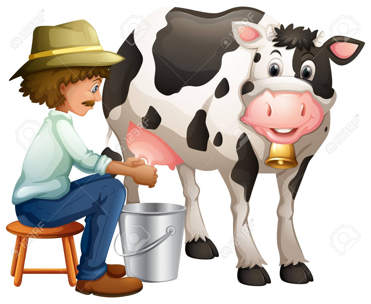 Milking Cow Clipart.