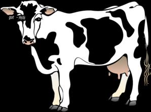 Got Milk Cow clip art.