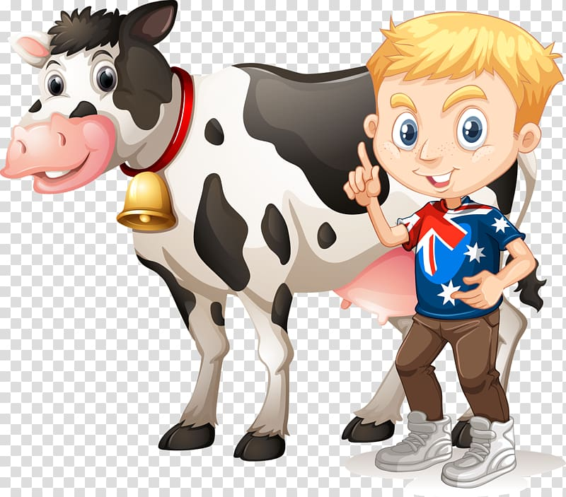 Dairy cattle Milk , Cows transparent background PNG clipart.