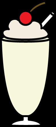 Milkshake Glass Clipart.
