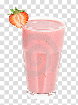 Ice Cream Milkshake, glass of strawberry shake transparent.