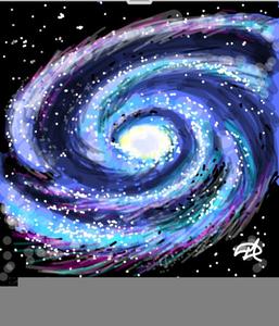 Milky Way Line Clipart.