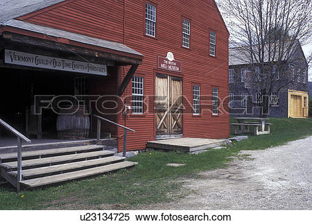 Stock Image of gristmill, Vermont, VT, Weston, The Weston Mill.