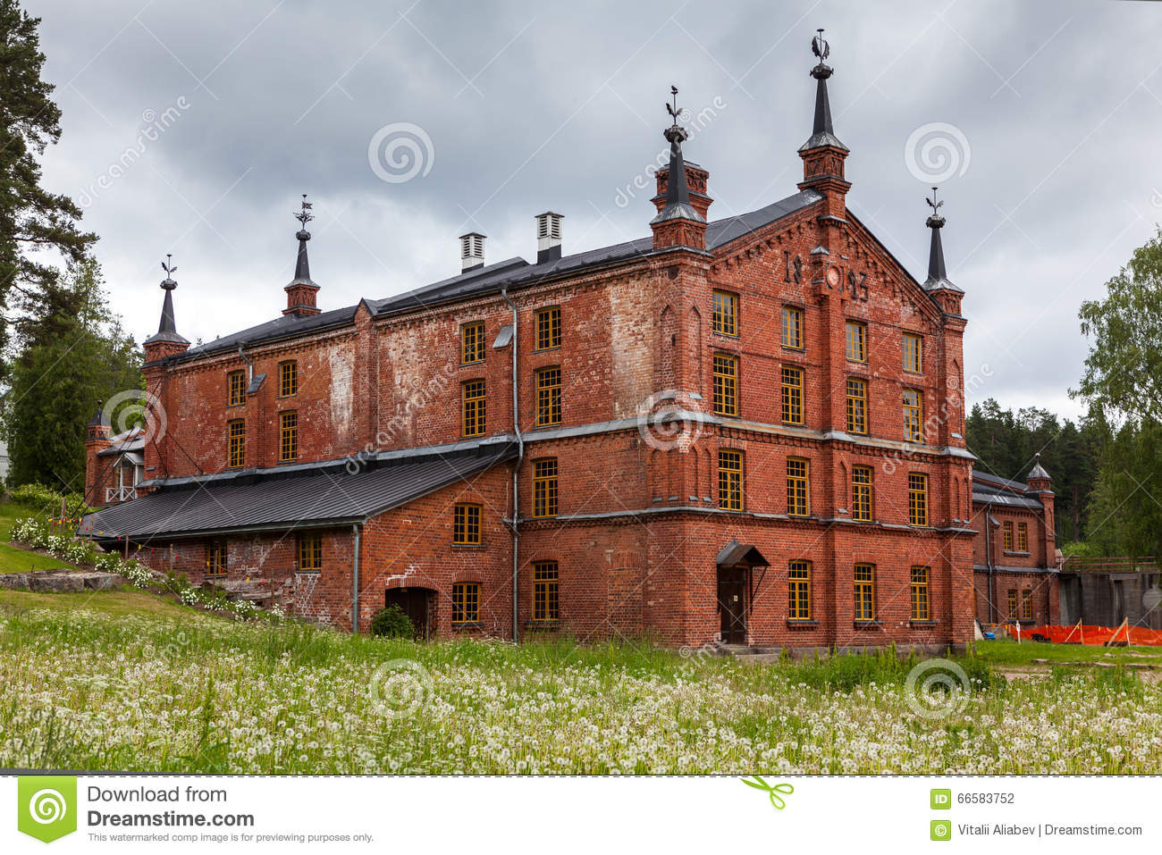 Paper Mill Museum Werla (Verla). Finland Stock Photo.