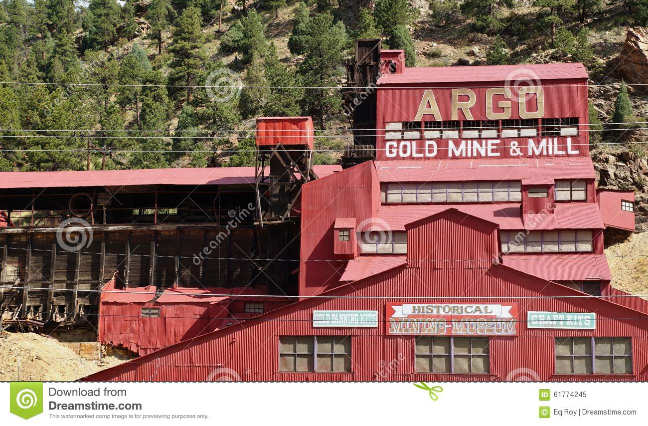 The Argo Gold Mine And Mill In Colorado Editorial Image.