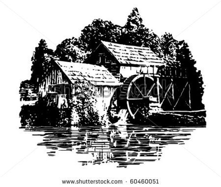 Mill Wheel Clipart.