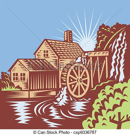 Water wheel Clipart Vector Graphics. 3,115 Water wheel EPS clip.