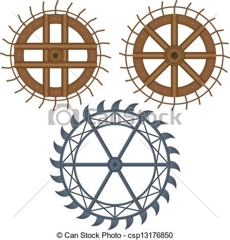 Clipart Vector of mill wheel csp13176850.