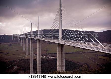 Stock Image of Millau Bridge, France k13941145.