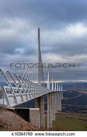 Stock Photograph of Millau Bridge k16364769.