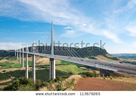Millau Viaduct Aveyron Departement France Stock Photo 113358076.