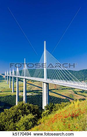 Stock Photo of Millau Viaduct, Aveyron, France k5170494.