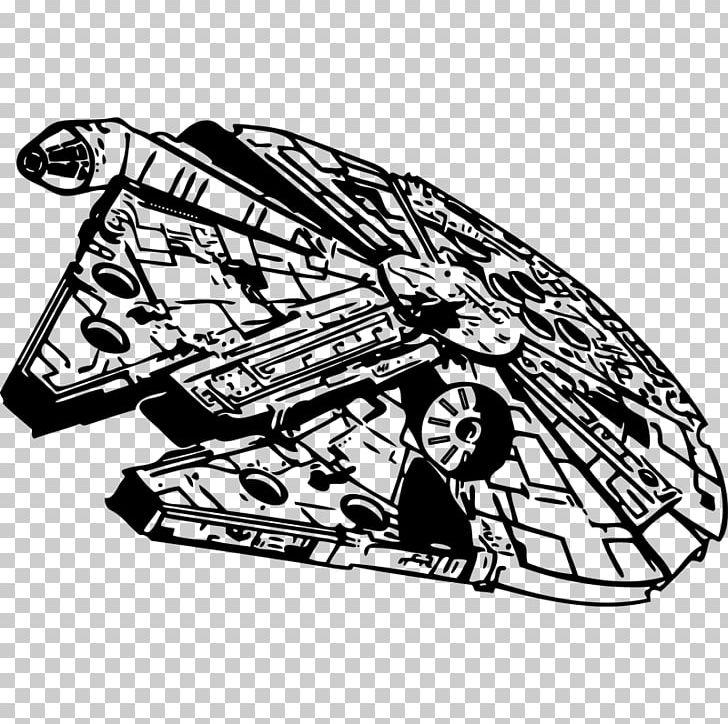 Millennium Falcon Star Wars Stencil PNG, #737234.
