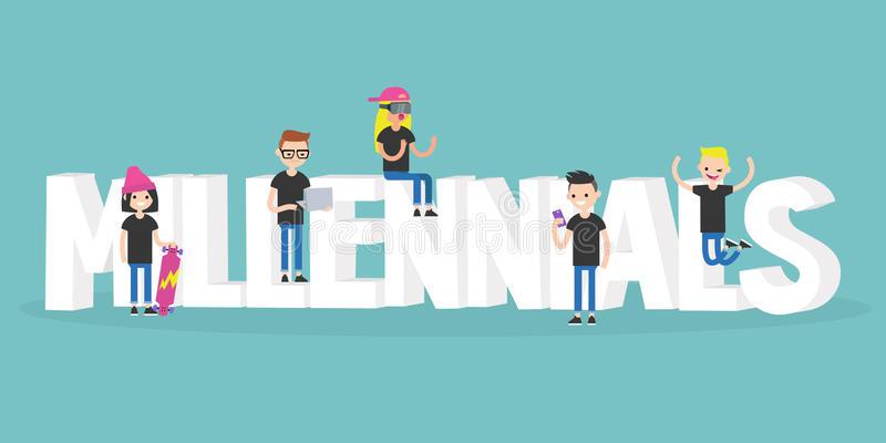 Millennial Stock Illustrations.