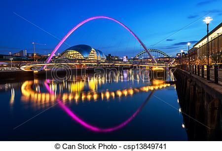 Stock Photo of Millennium Bridge Newcastle.