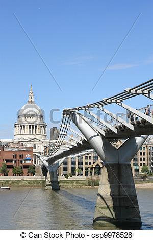 Pictures of Millennium Bridge and St.Paul's Cathedral csp9978528.