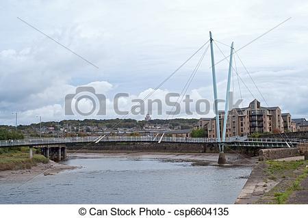Stock Images of River Lune and Millennium bridge.