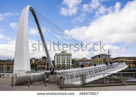 Gateshead Millennium Bridge Stock Photos, Royalty.