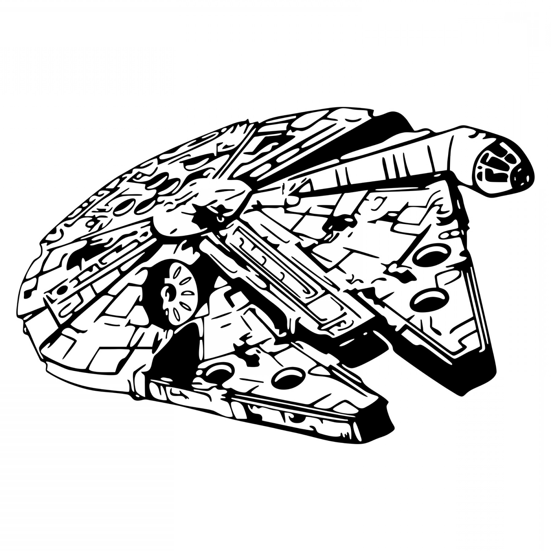 Star Wars Millennium Falcon Spacecraft Design Svg Dxf Eps.