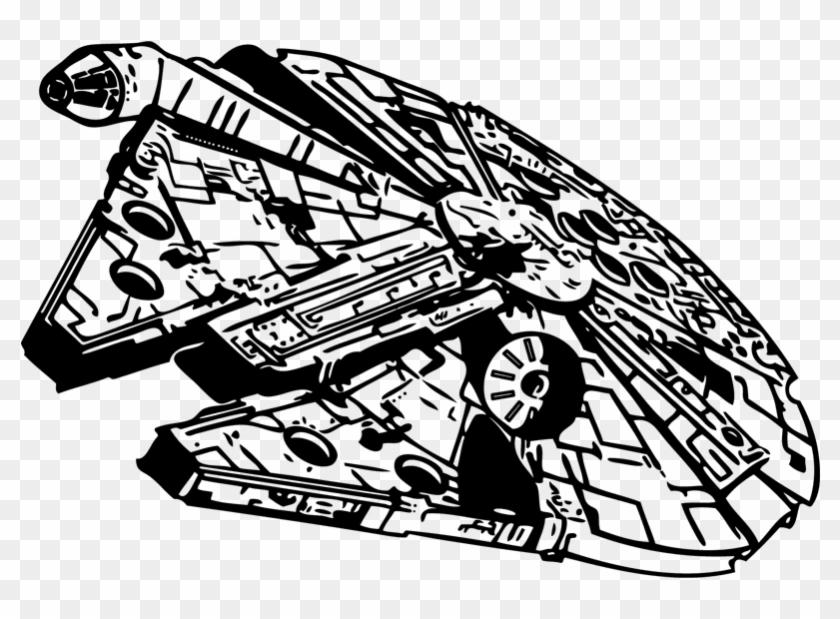 Millennium Falcon Star Wars Stencil Clip Art.