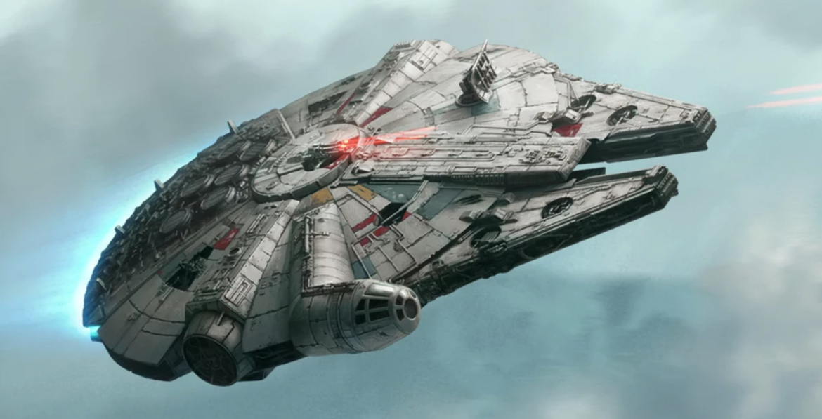 The timeless majesty of the Millennium Falcon.