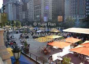 Stock Photo of Park Grill on the Plaza of Millennium Park in.
