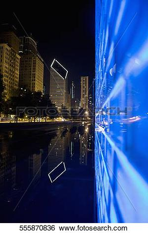Stock Images of Fountain in a city, Crown Fountain, Millennium.