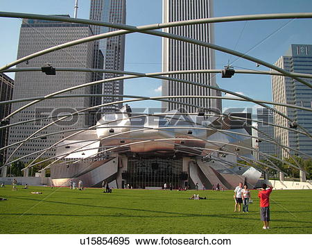Stock Image of Chicago, IL, Illinois, Windy City, Downtown.