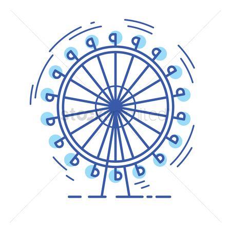 Free Millennium Wheel Stock Vectors.