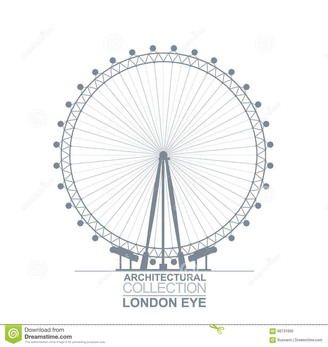 London Eye View Editorial Image.