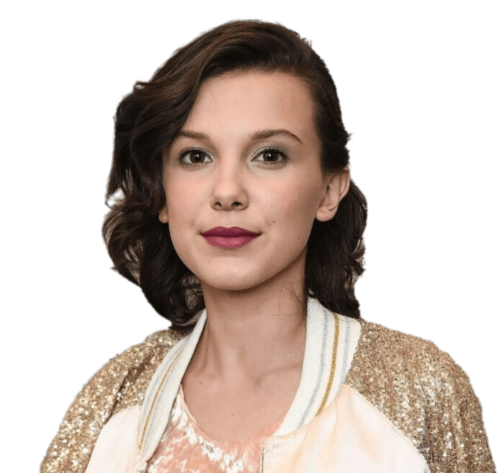 Millie Bobby Brown Glamourous transparent PNG.