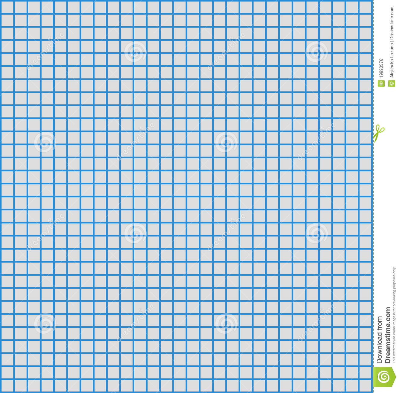 Blue Line Graph Paper Royalty Free Stock Image.