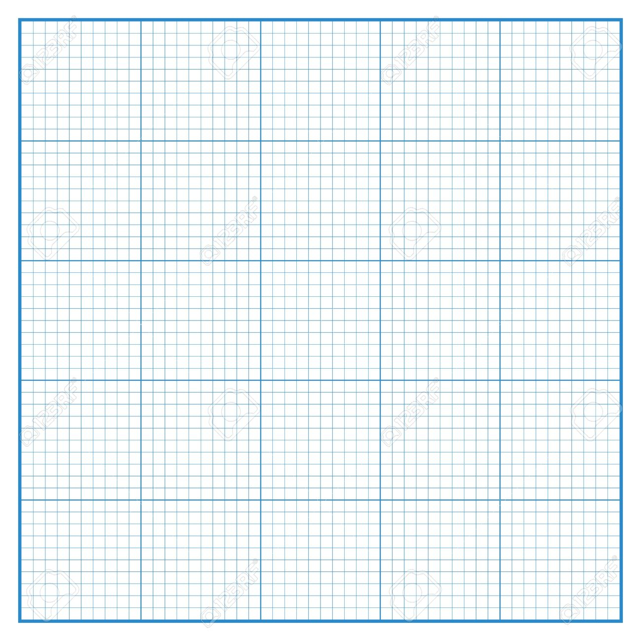 Vector Square Engineering Graph Paper With 5 Metric Divisions.