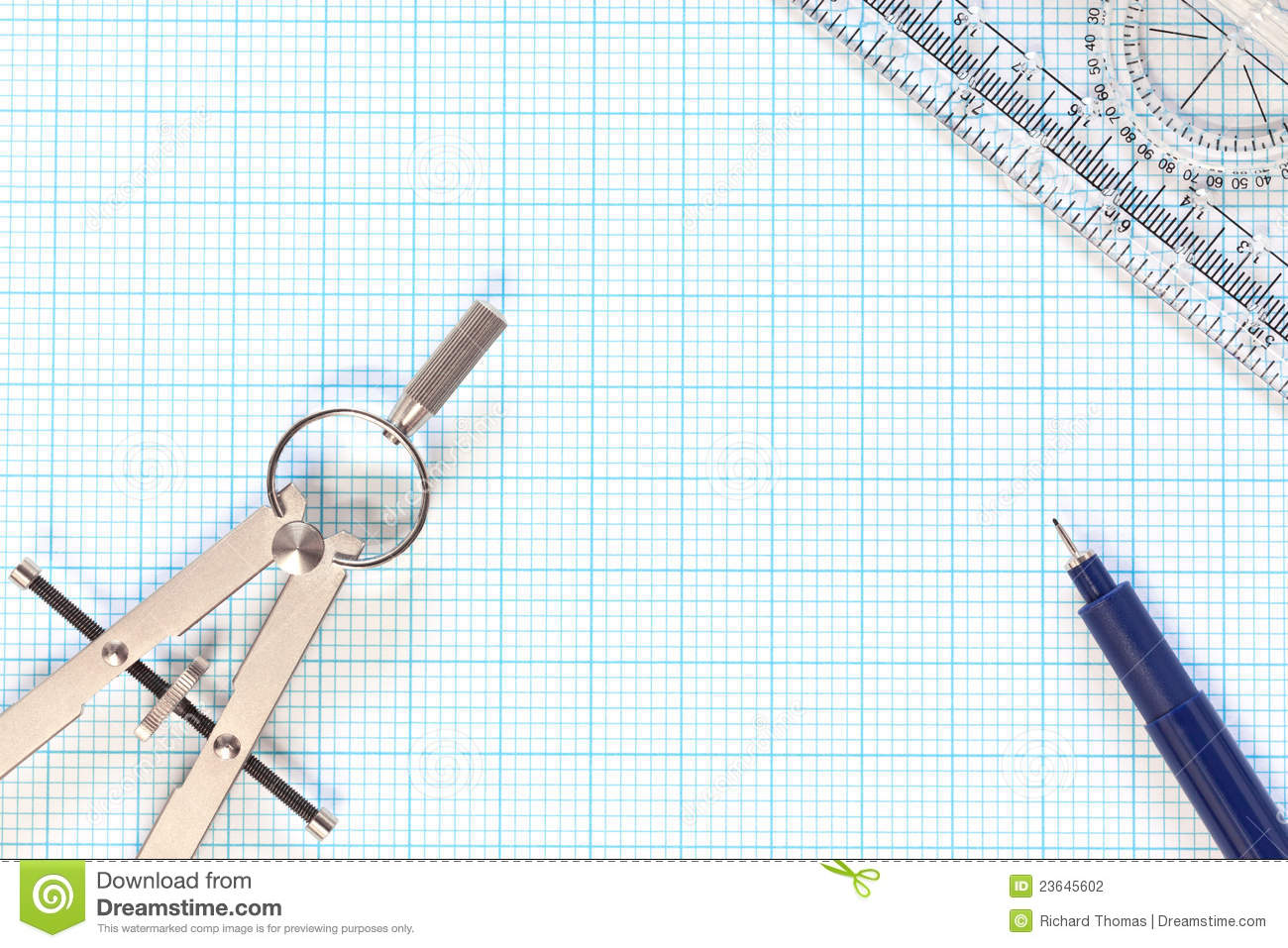 Engineering Graph Paper Stock Image.