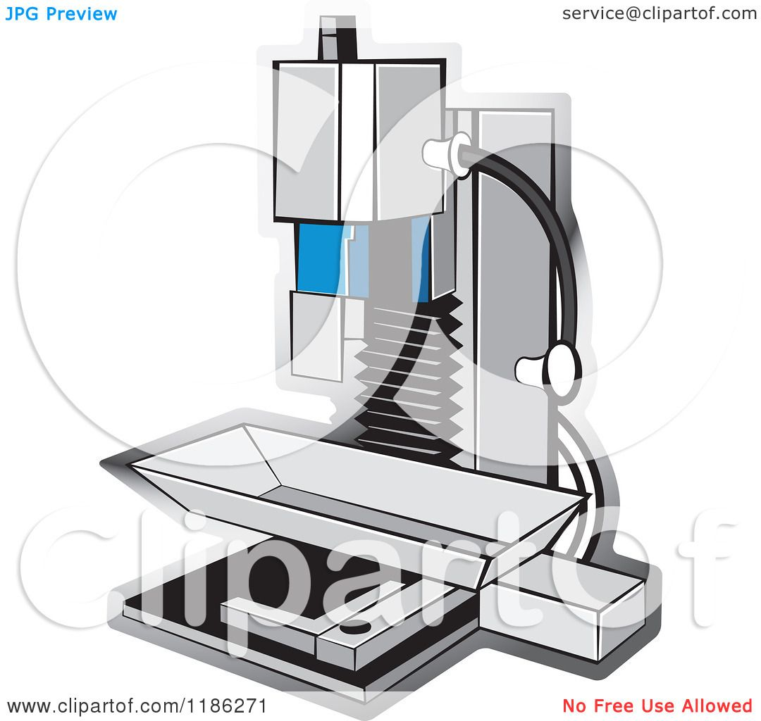 Clipart of a Milling Machine.