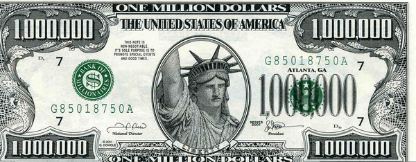 One Million Dollar Bill Clipart.