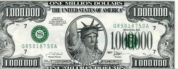 One Million Dollar Bill Clipart.