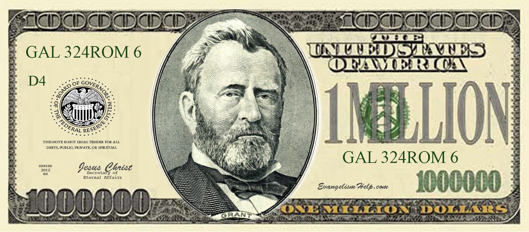 Million Dollar Bill Tract.