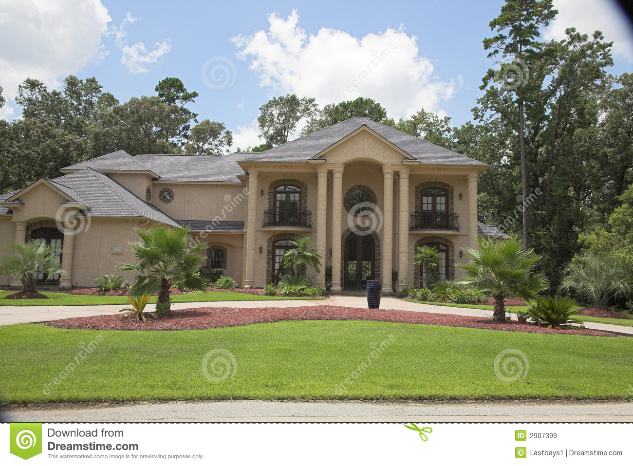 Million Dollar Homes Series Royalty Free Stock Images.