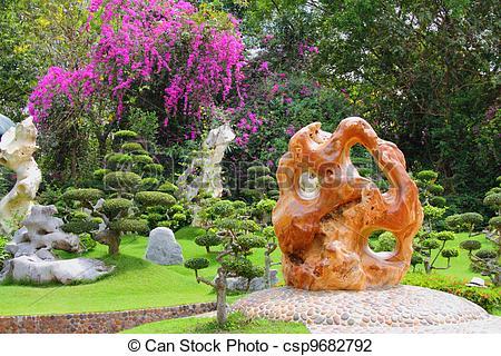 Stock Photo of Million Years Stone Park. Pattaya. Thailand.