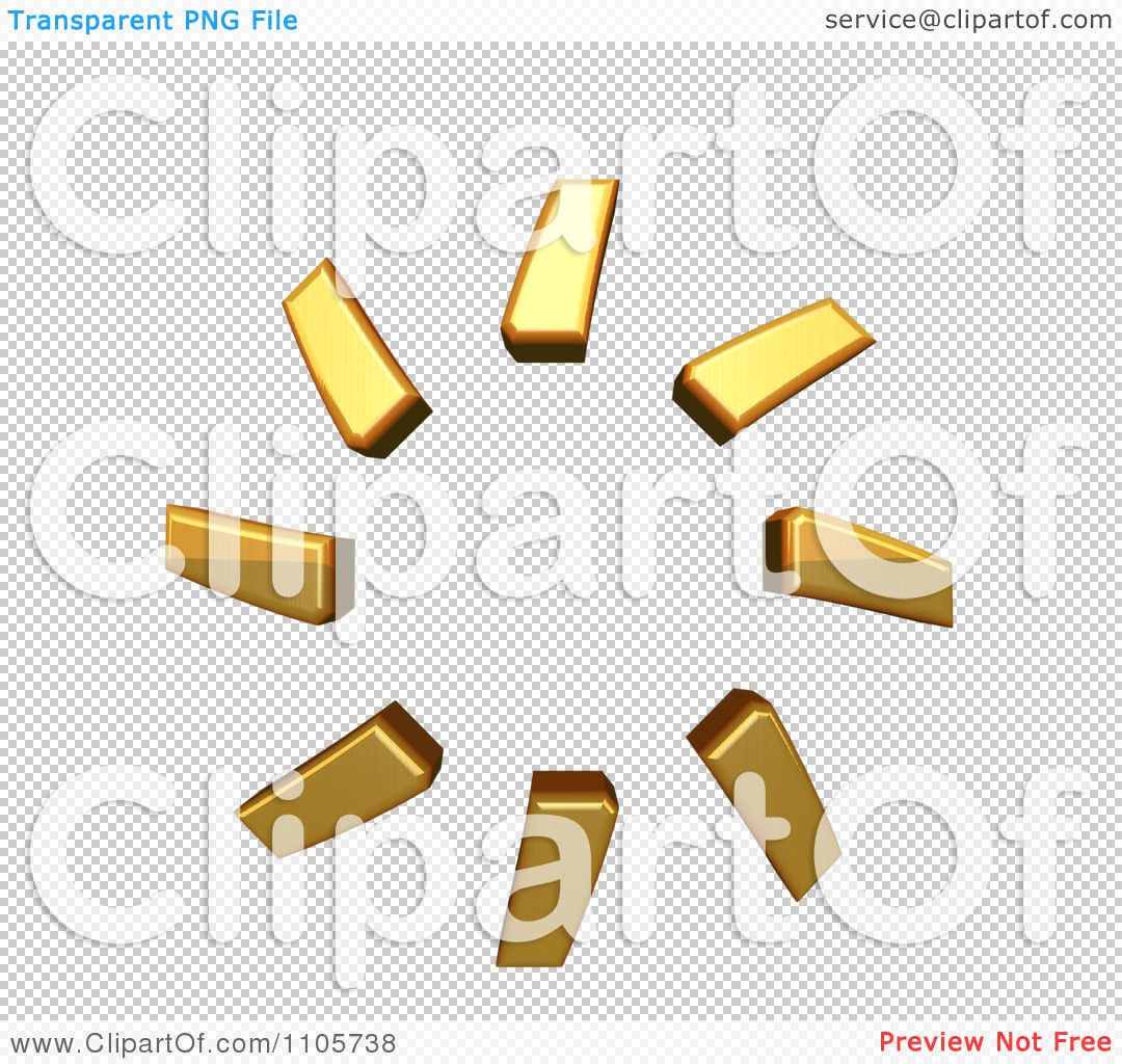 3d Gold combining cyrillic millions sign Clipart Royalty Free CGI.