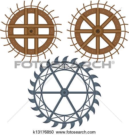 Clipart of mill wheel k13176850.